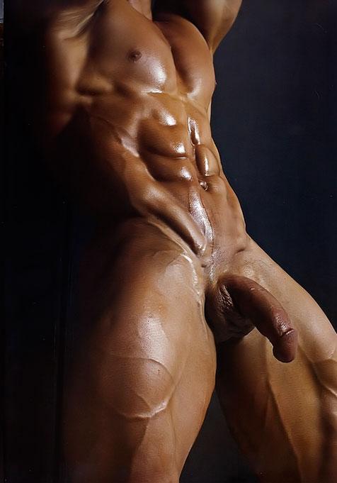 Photo de la bite d'un bodybuilder